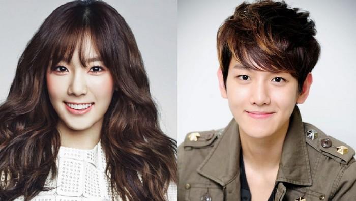 Sama-sama artis SM Entertainment, Taeyeon dan Baekhyun sempat berpacaran. Foto: Istimewa
