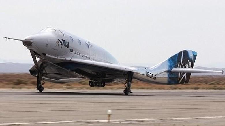 Pesawat luar angkasa VSS Unity (dok Virgin Galactic)