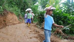 Dampak Tanah Gerak di Banjarnegara, Warga Kesulitan Dapat Air Bersih
