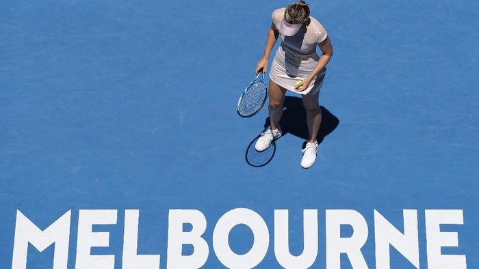 Dua tahun setelah skandal doping yang menimpanya, Maria Sharapova kembali tampil di Melbourne Park. Foto: Issei Kato/Reuters