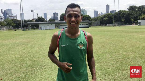 Irfan Jaya akan mengisi sisi kiri sayap Timnas Indonesia.