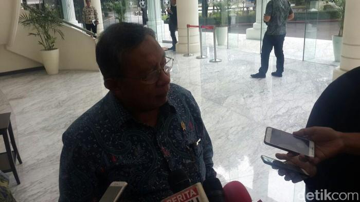 Menko Darmin Nasution di Kantor Wapres JK Foto: Taufiq/detikcom