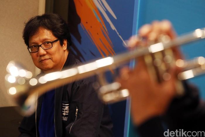Musisi yang juga konduktor, Erwin Gutawa meresmikan lembaga pendidikan musik Erwin Gutawa Music Scholl (EGMS), di Jakarta, Rabu (17/01/2018).
