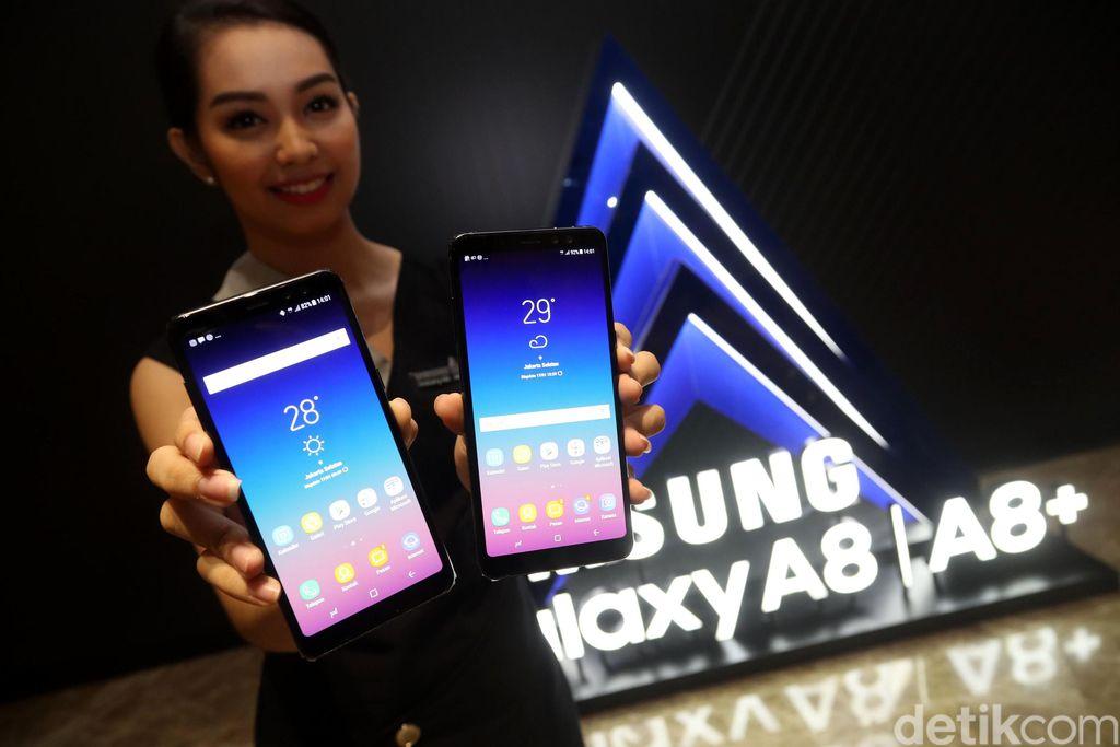 Samsung resmi merilis Galaxy A8 dan A8+ di Indonesia.