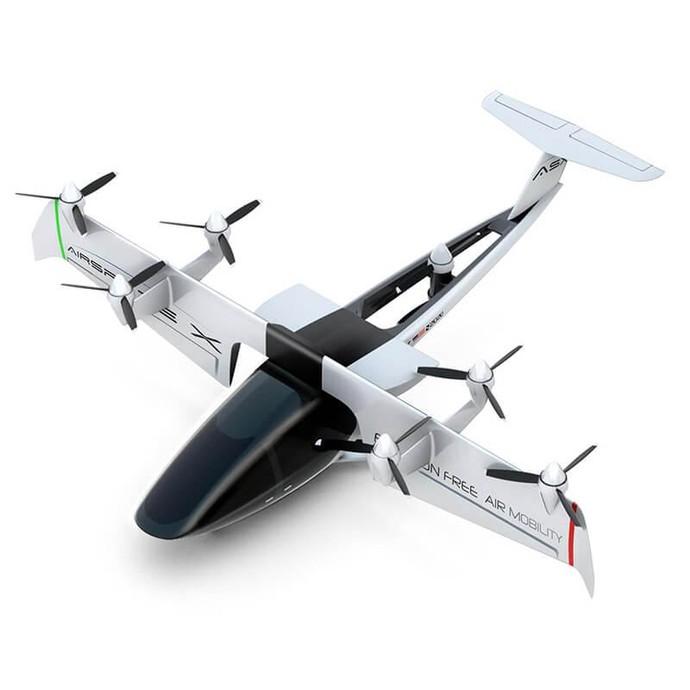 Sebuah perusahaan Amerika, Airspace Experience Technologies, LLC (AirSpaceX) memperlihatkan taksi masa depan yang tarifnya tak jauh beda seperti taksi UberX. Foto: AirspaceX