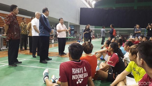 CdM Asian Games 2018 Sjafruddin di pelatnas Cipayung, Rabu (17/1/2018)