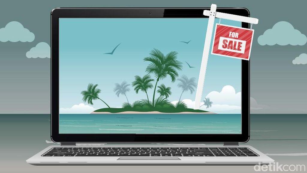 Pulau Tak Berpenghuni Ini Dijual Rp 1 M, Berminat?