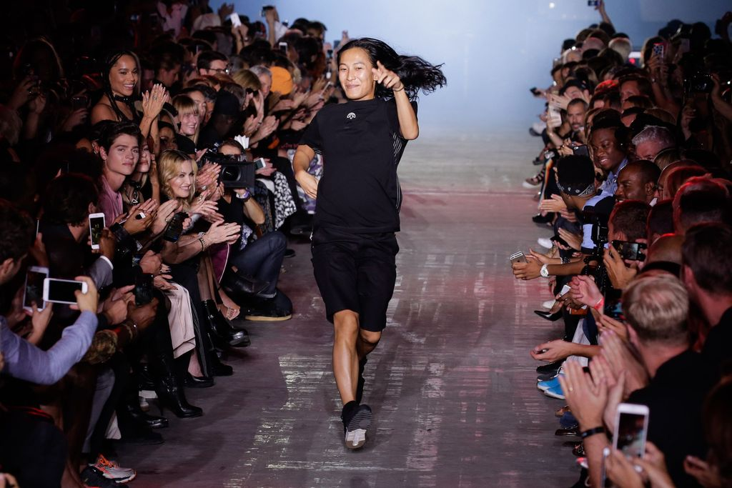NEW YORK, NY - FEBRUARY 11:  Designer Alexander Wang poses on the runway at the Alexander Wang  February 2017 fashion show during New York Fashion Week on February 11, 2017 in New York City.  (Photo by JP Yim/Getty Images)