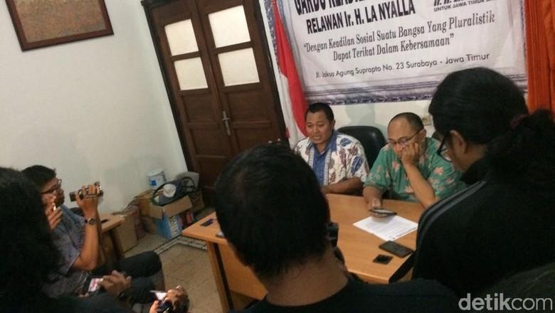 Relawan La Nyalla Buka Posko Pengaduan Mahar Politik di Surabaya