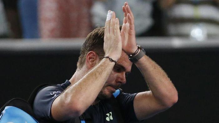 Stan Wawrinka tersingkir di babak kedua Australia Terbuka 2018 (Foto: Toru Hanai/Reuters)