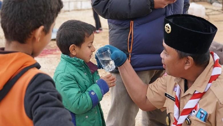 Pramuka Bantu Pengungsi di Suriah