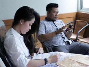 Raut Wajah Gracia Indri saat Mediasi