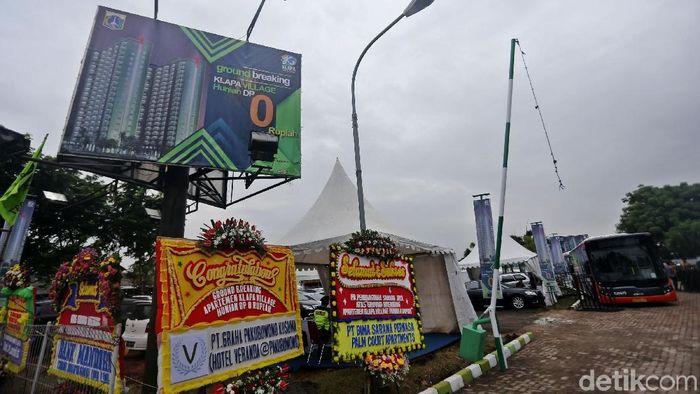 Proyek rumah DP Rp 0 di Pondok Kelapa Jakarta Timur/Foto: Agung Pambudhy