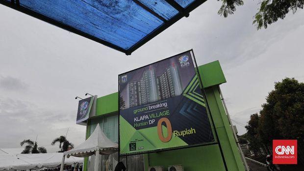 Lokasi hunian DP nol rupiah di Pondok Kelapa, Kecamatan Duren Sawit, Jakarta Timur.
