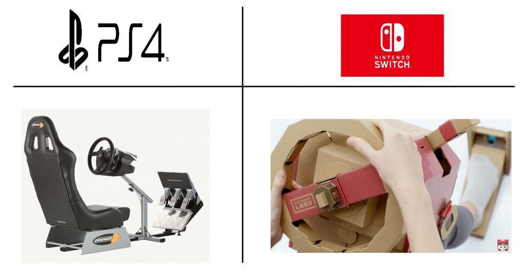 Perbandingan PS4 dan Nintendo Switch, keren mana? (Foto: Twitter)