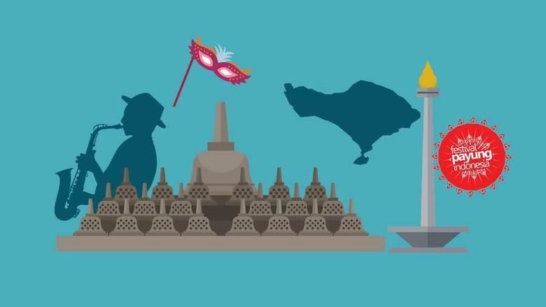 Ilustrasi festival di Indonesia (dok detikTravel)