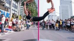 Lepas dari dunia entertainment, Vicky kini tekun menggeluti pole dance. Seperti apa sih aksi Vicky Burki saat pole dance? Yuk intip lewat foto berikut.
