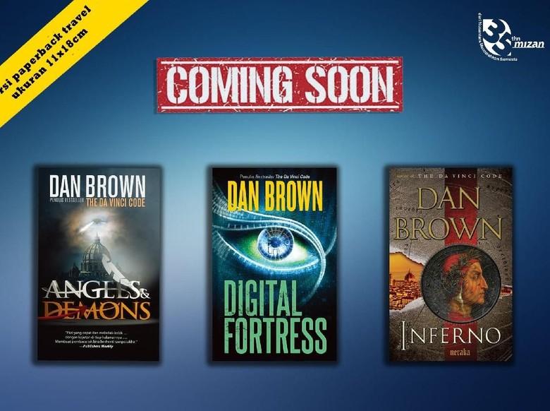 3 Buku Dan Brown Versi Bahasa Indonesia akan Cetak Ulang
