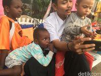 Kondisi bocah Sami, anak pencari suaka yang telantar di trotoar Jakarta