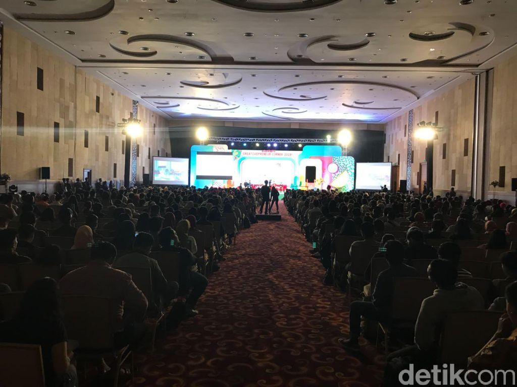 Acara Creativepreneur Corner 2018 berlangsung di Alana Jogjakarta Hotel Mataram City International Convention Center. (Foto: detikINET/Adi Fida Rahman)
