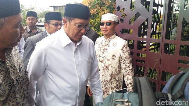 Menteri Agama Lukman Hakim Saifuddin hadir di peringatan Ponpes Daar El-Qolam