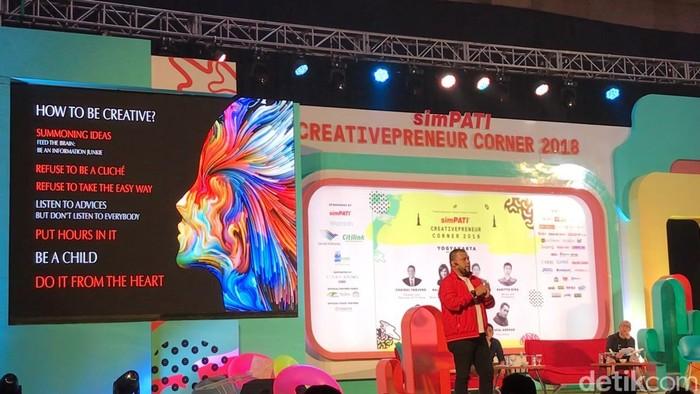 Joko Anwar di Creativepreneur Corner 2018 Jogja (Foto: detikINET/Adi Fida Rahman)