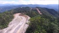 Batu Proyek Jalan Trans Papua Dibawa Dari Palu