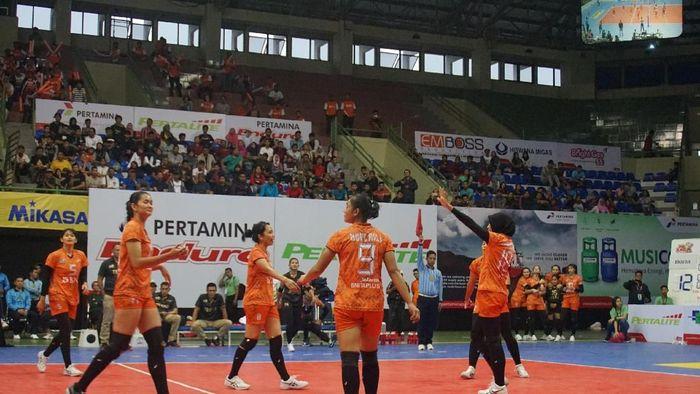 Putri Jakarta BNI Taplus menangi laga perdana Proliga 2018 seri Jogja (Novitasari Dewi Salusi/detikSport)
