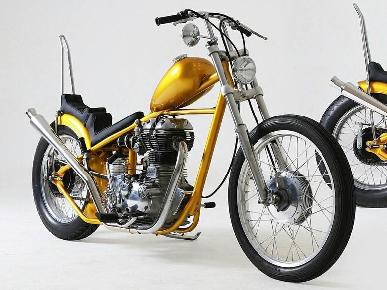 Motor Chopper Emas yang Dibeli Jokowi Sempat Dipamerkan di Jepang