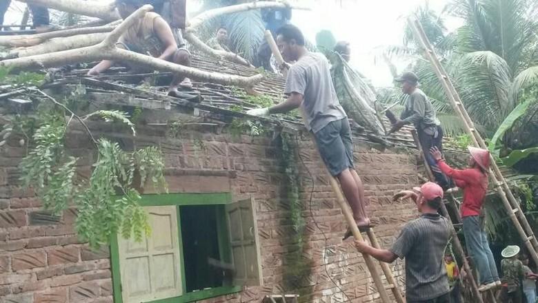 Pohon Tumbang Timpa Rumah di Trenggalek, 3 Orang Terluka
