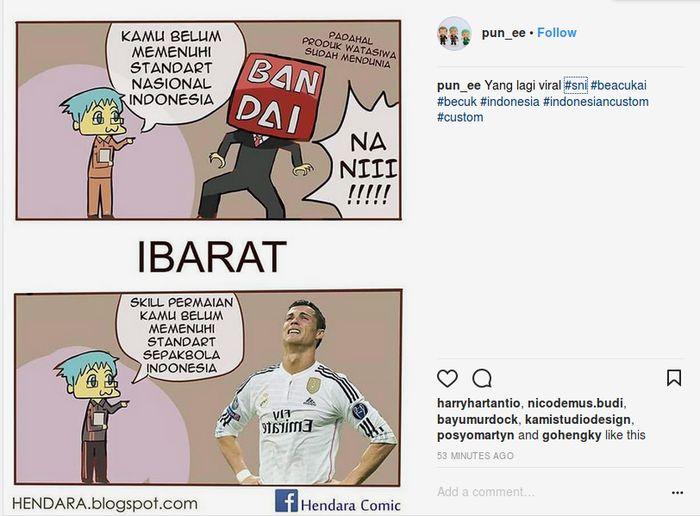 Ronaldo kena bann karena skill yang tidak SNI Foto: Internet