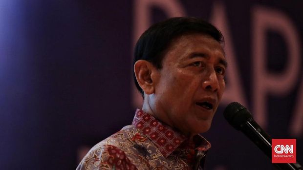 Menkopolhukam Wiranto, di Jakarta, 21 Januari.