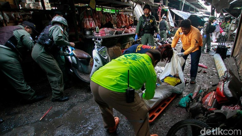 3 Orang Tewas dalam Bom Motor di Pasar Thailand