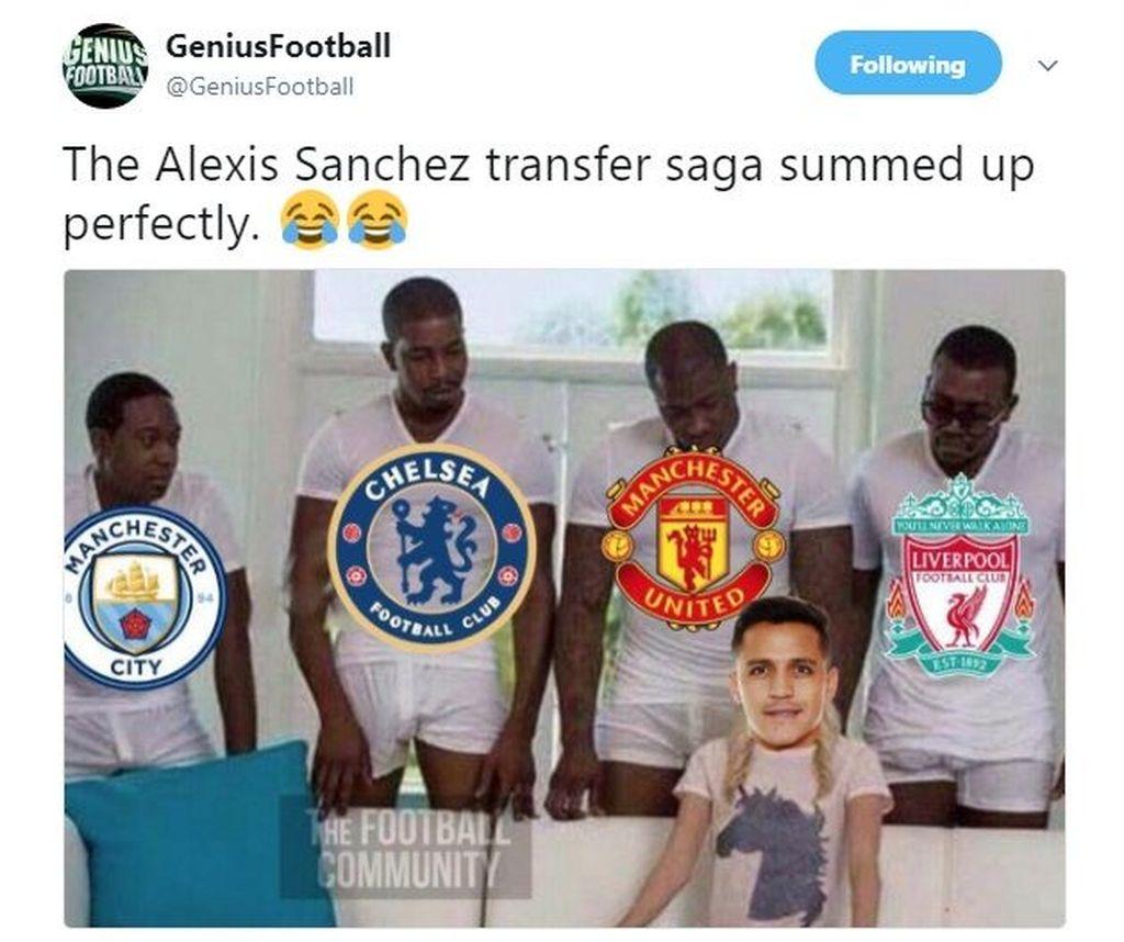 Awalnya Alexis diminati banyak tim dari Liga Primer Inggris. (Foto: Twitter)
