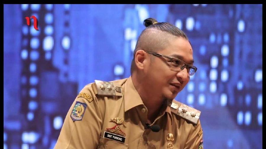 Gaya rambut Wakil Wali Kota Palu Pasha Ungu yang jadi sorotan