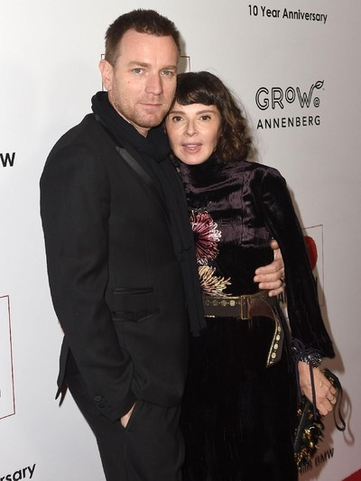 LOS ANGELES, CA - NOVEMBER 05:  Ewan McGregor (L) and Eve Mavrakis arrive at the 10th Annual GO Campaign Gala on November 5, 2016 in Los Angeles, California.  (Photo by Joshua Blanchard/Getty Images for GO Campaign)