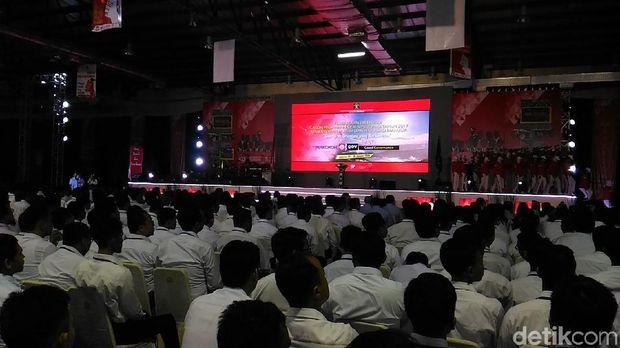Orientasi CPNS Kemenkum HAM di Balai Kartini, Jakarta, Senin (22/1/2018)