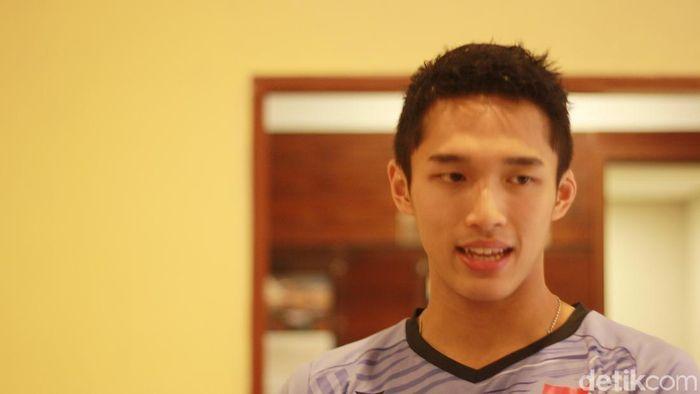 Jonatan Chtistie akan tampil mati-matian sejak babak pertama di Indonesia Masters. (Femi Diah/detikSport)
