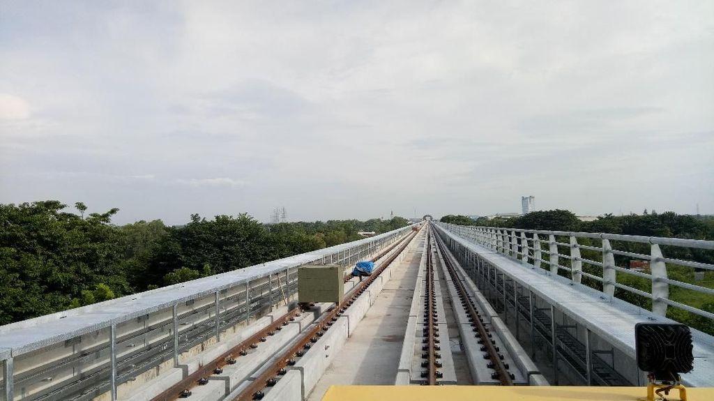 Dua Bulan Jelang Uji Coba, Proyek LRT Palembang Sudah 83%