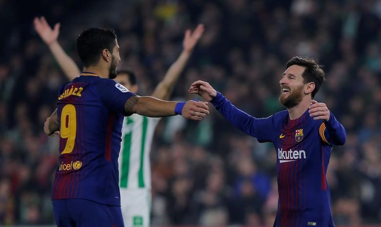 Suarez-Messi. Foto: Jon Nazca/Reuters