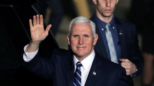 Wapres AS Mike Pence, di Israel, 21 Januari.