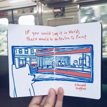 Ilustrasi 'Choo Choo' Muncul saat Perjalanan Commuter Line Palmerah-Rawa Buntu