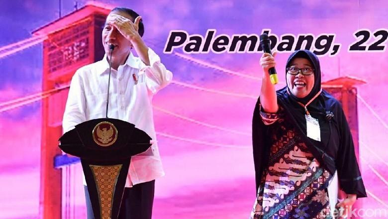 Saat Jokowi Kewalahan Memandu Kuis Nama Ikan di Palembang