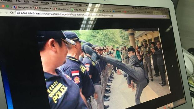 Kemendagri Ingatkan Walkot Mataram Soal Foto Viral Tendang Satpol PP