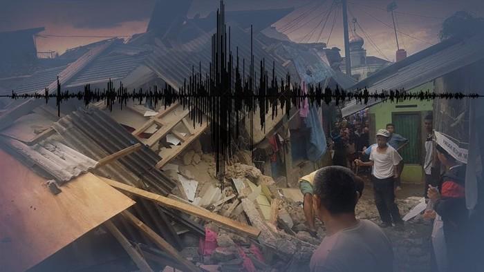 Ilustrasi gempa Banten (Luthfy Syahban/detikcom)