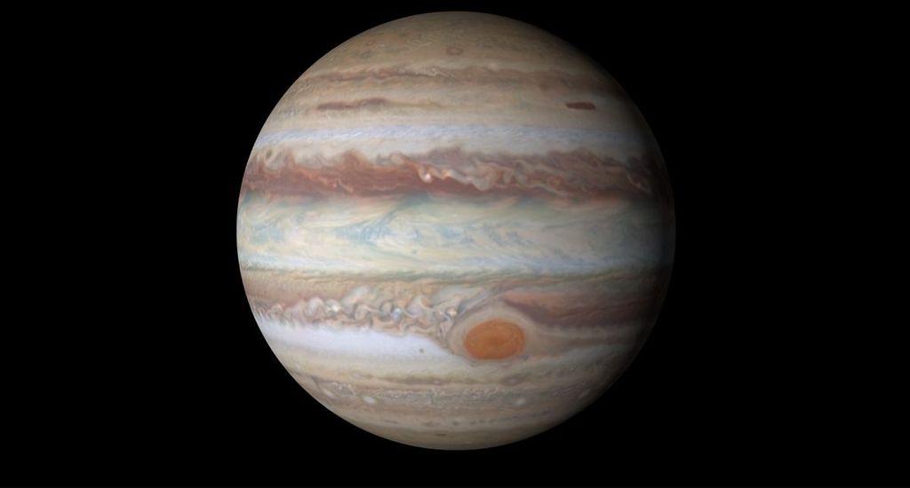 Planet terbesar, dengan diameter sekitar 142.984 km, atau 11 kali lebih besar dari Bumi, menjadikan Jupiter sebagai planet terbesar di tata surya. (Foto: Space)