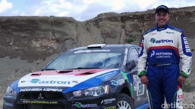 Rifat Sungkar saat akan mengikuti Rally America, Susquehannock Trail Performance Rally (STPR), pada 31 Mei – 1 Juni 2013.