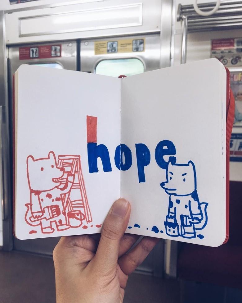 Ilustrasi Choo Choo Kerap Kritik Kondisi Sosial Generasi Milenial