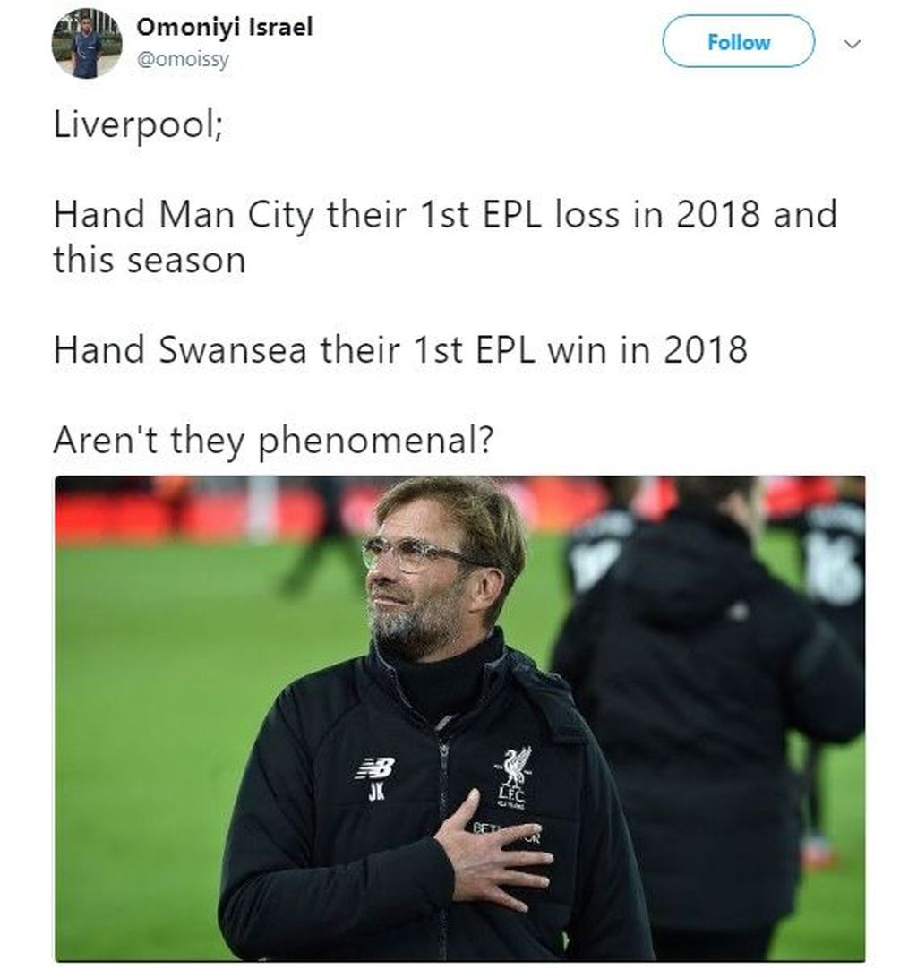 Mungkin cuma Liverpool yang bisa begini. Foto: istimewa