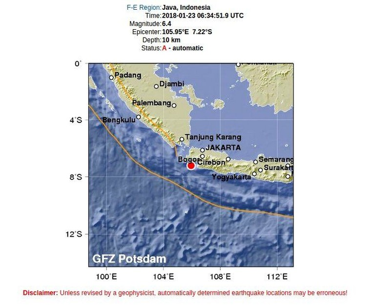 Gempa Banten Terasa sampai Bogor